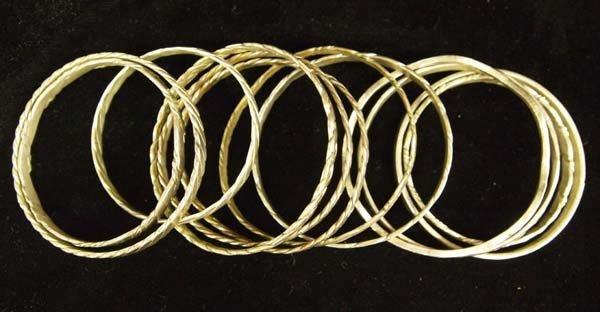 Collection of Sterling Silver Bangle Bracelets