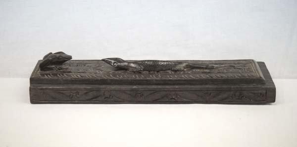 Indonesian Wood Carved Lizard Box
