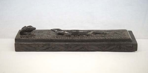 Indonesian Wood Carved Lizard Box