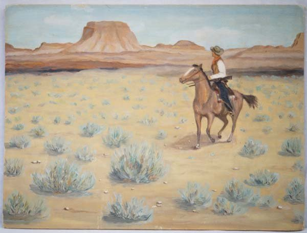 1959 Original Cowboy Painting by Dorothy Davis