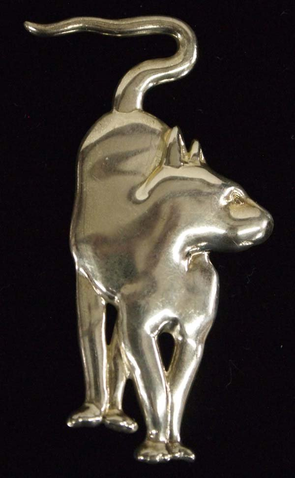 Museum of Fine Arts Sterling Silver Cat Pin