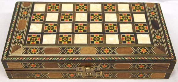Inlay Backgammon Game Box