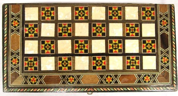 Inlay Backgammon Game Box - 2