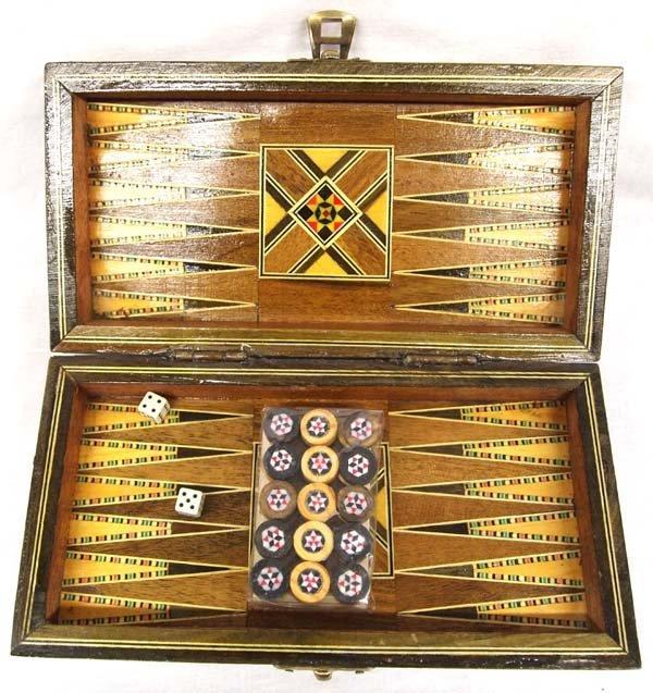 Inlay Backgammon Game Box - 3