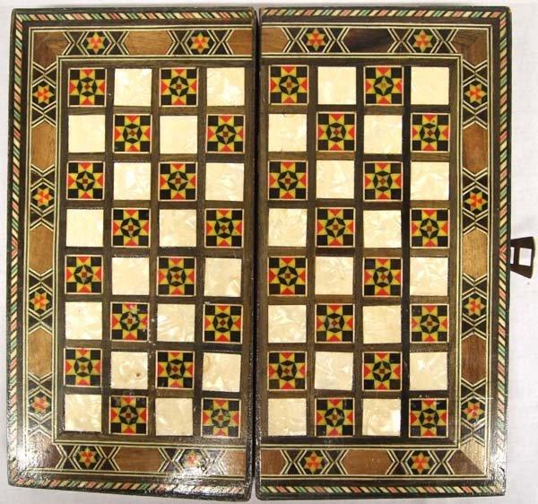 Inlay Backgammon Game Box - 4