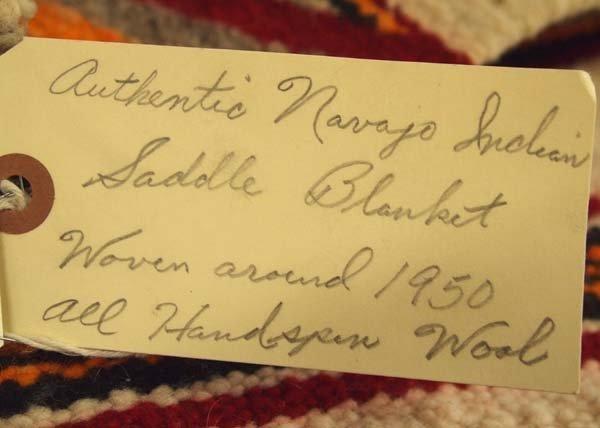 1950 Navajo Wool Textile Rug - 3
