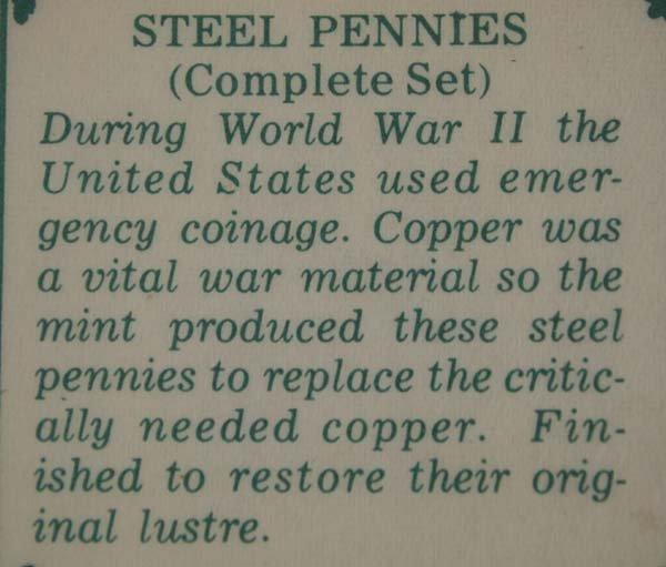WWII Complete Set Steel Pennies - 3