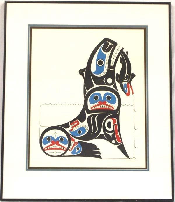 Northwest Coast Silkscreen Print by Pat Amos