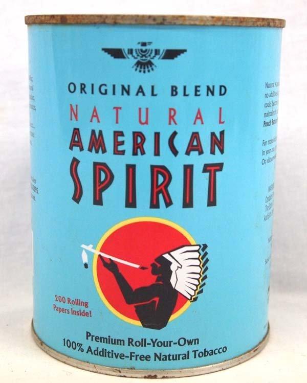 Am. Spirit Addictive Free Tobacco Advertisement Tin