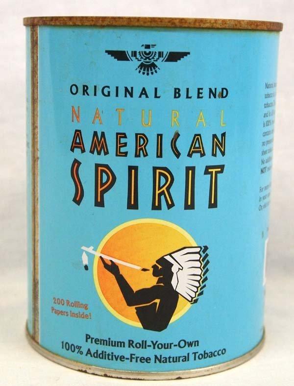 Am. Spirit Addictive Free Tobacco Advertisement Tin - 2