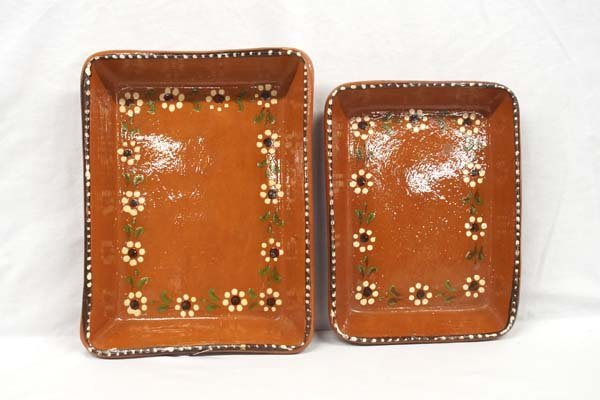 Vintage Clay Mexican Casserole Dishes