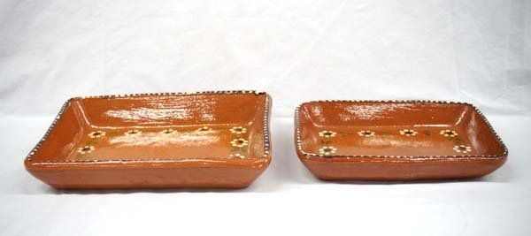 Vintage Clay Mexican Casserole Dishes - 2