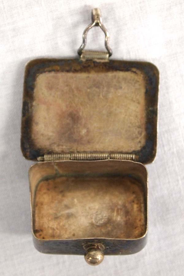 Taxco Mexican Sterling Silver & Abalone Pill Box. - 3