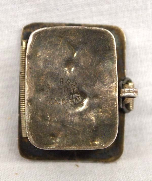 Taxco Mexican Sterling Silver & Abalone Pill Box. - 4