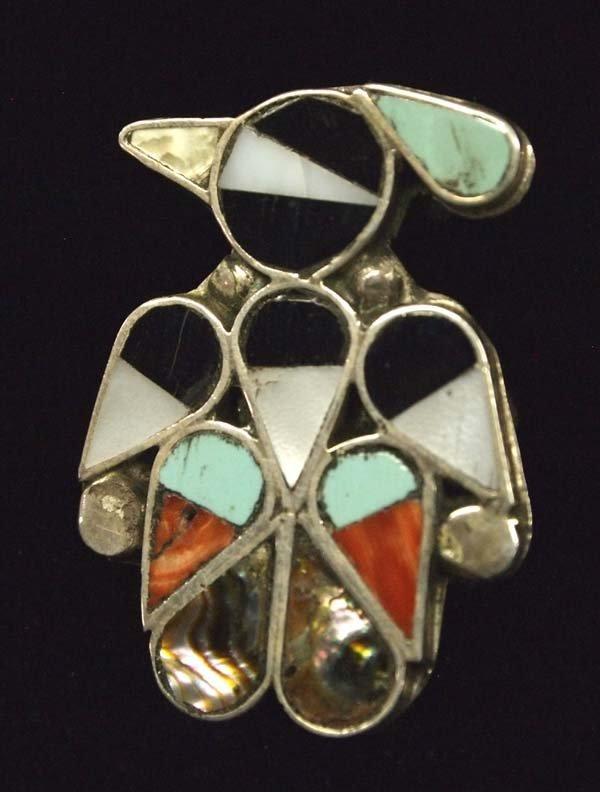 Zuni Sterling Silver Inlay Thunderbird Ring