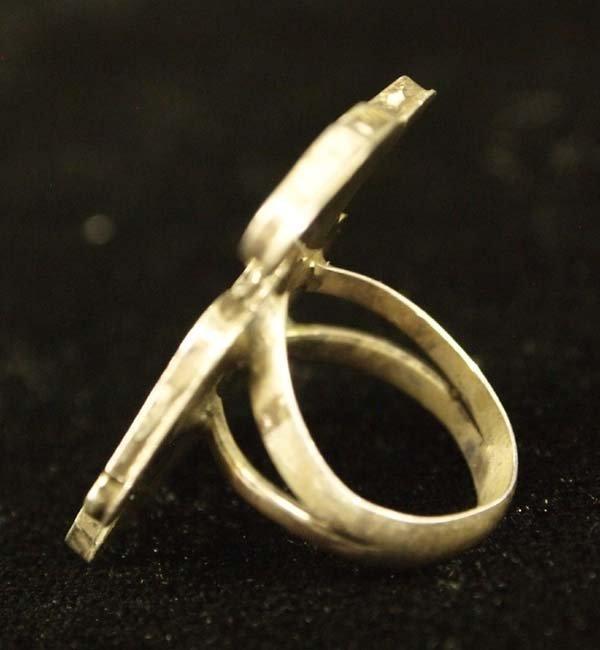 Zuni Sterling Silver Inlay Thunderbird Ring - 2