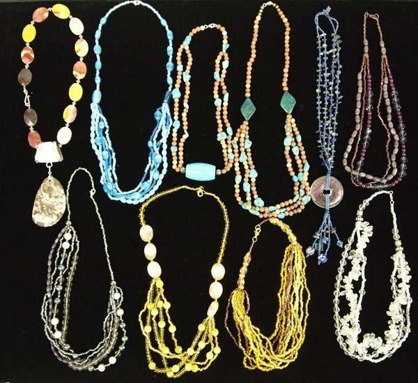 10 Beaded Necklaces by Kathy Kills Thunder