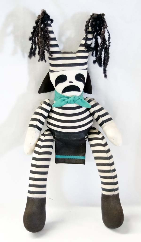 Contemporary Zuni Koshare Clown Cloth Doll