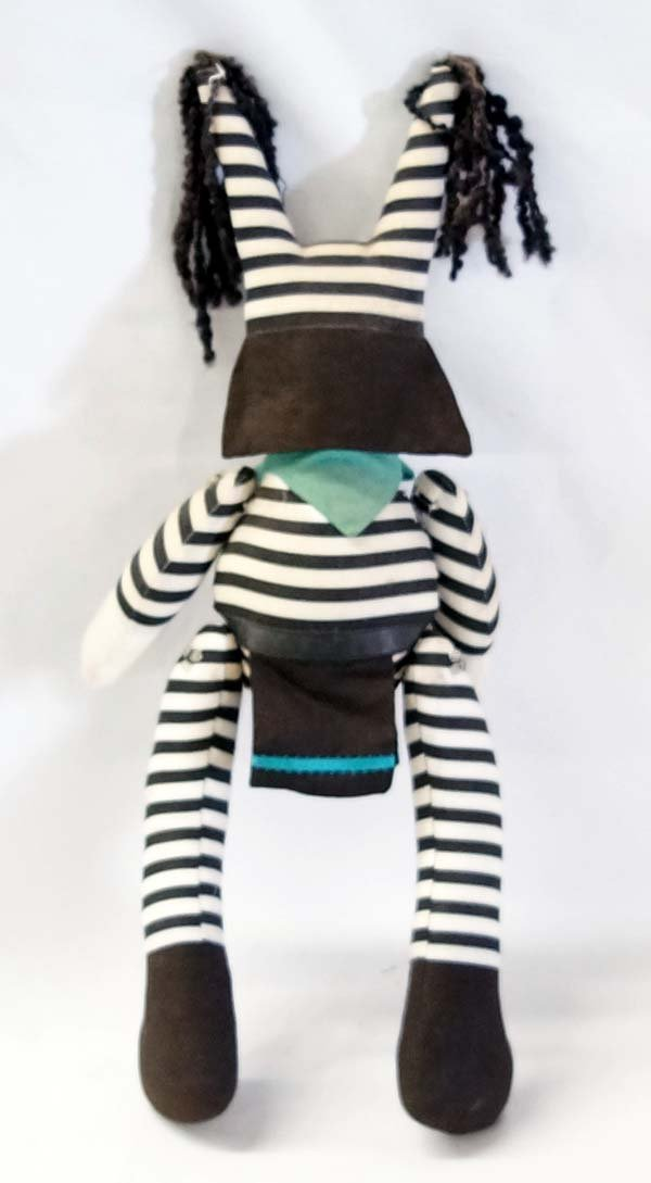 Contemporary Zuni Koshare Clown Cloth Doll - 2