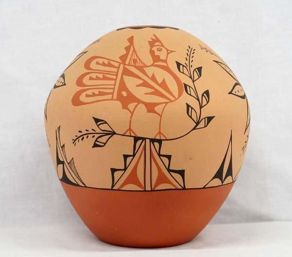 Jemez Polychrome Pottery Seed Jar by Tosa.