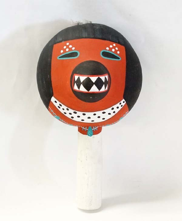 Hopi Painted Gourd Dance Rattle