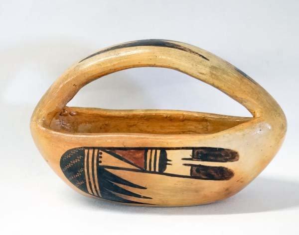 Historic Hopi Handled Pottery Bowl