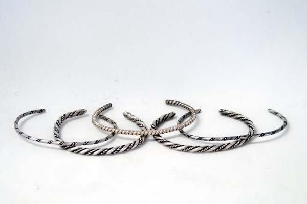5 Navajo Sterling Silver Guard Bracelets - 2