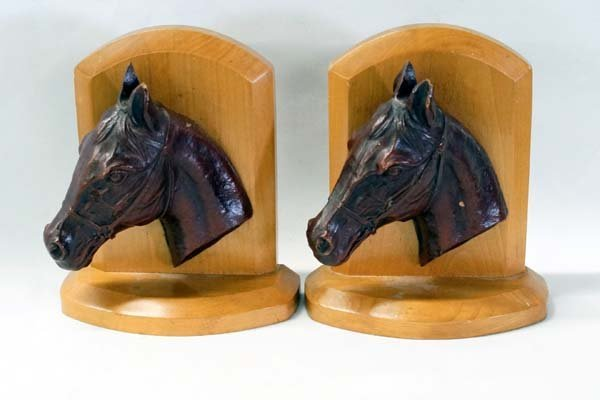 Vintage Western American Horsehead Bookends