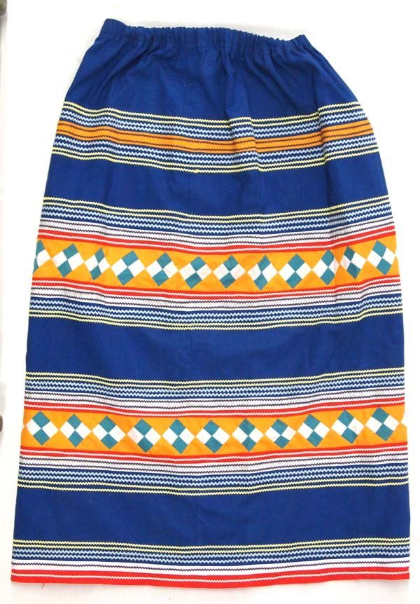 Native American Seminole Indian Hand Crafted Skirt