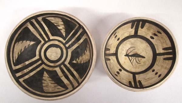 Two 1993 Anasazi Pottery Bowl Replicas