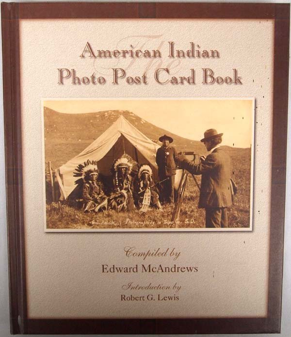 American Indian Photo Post Card Book, Hardback