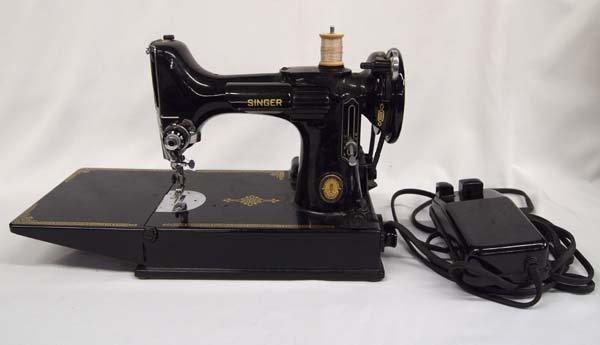 Vintage 1950 Singer 221-1 Sewing Machine