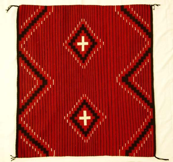 1970 Navajo Chief's Wool Textile Blanket
