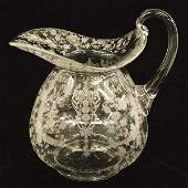 Royal Doulton Pitcher in Cambridge Rosepoint Clear