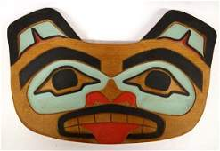 1980 Northwest Coast Carved Wood Plaque by J. Lyn