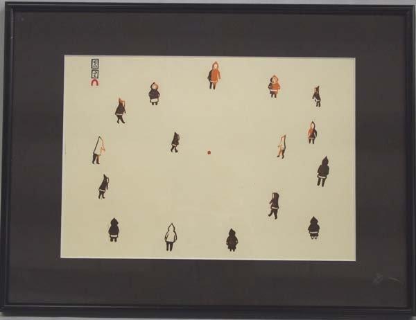 Canadian Inuit Silkscreen by Pitalouisa Saila