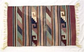 Mexican Zapotec 100 Percent Wool Rug