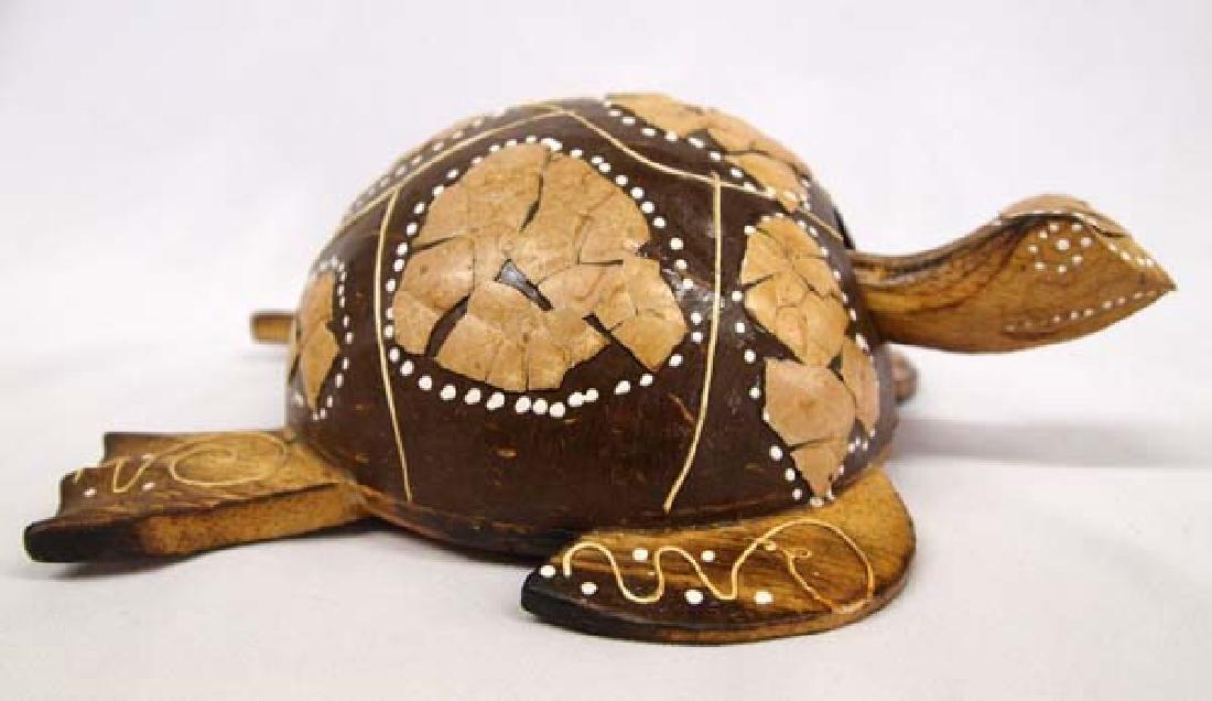 Coconut Shell Bobble Head Turtle, 2''x8''x6'', $14S&H