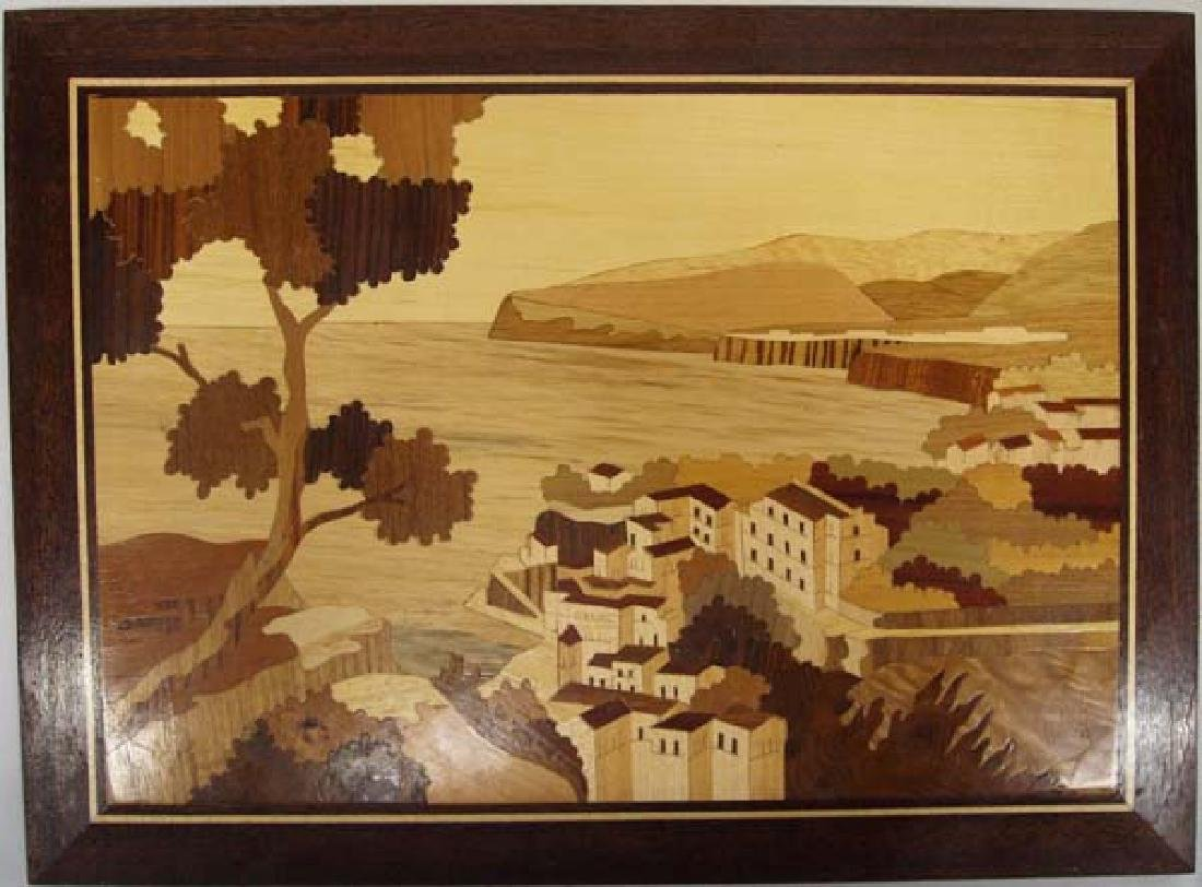 Wooden Marquetry Picture, 11'' x 15'', $12.00 S&H