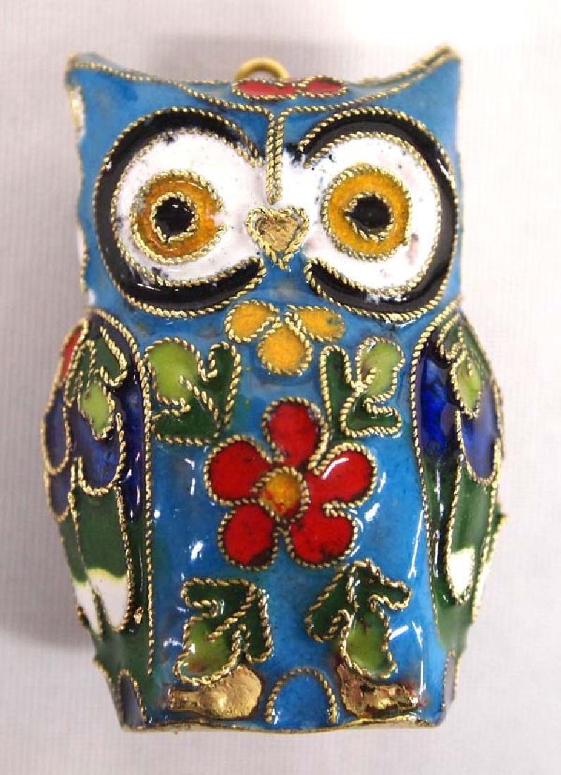 Cloisonne Owl Figure, 1'' x 2'', $6.50 S&H