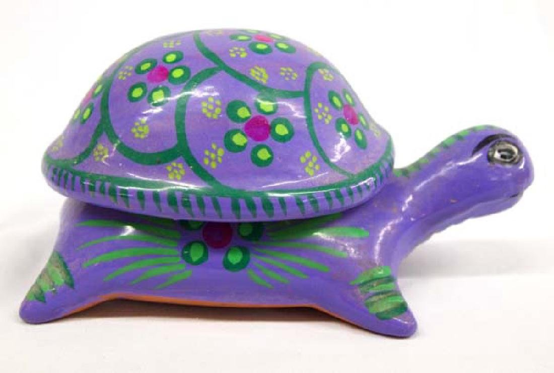 Mexican Pottery Turtle Box, 4'' x 8'', $14.00 S&H