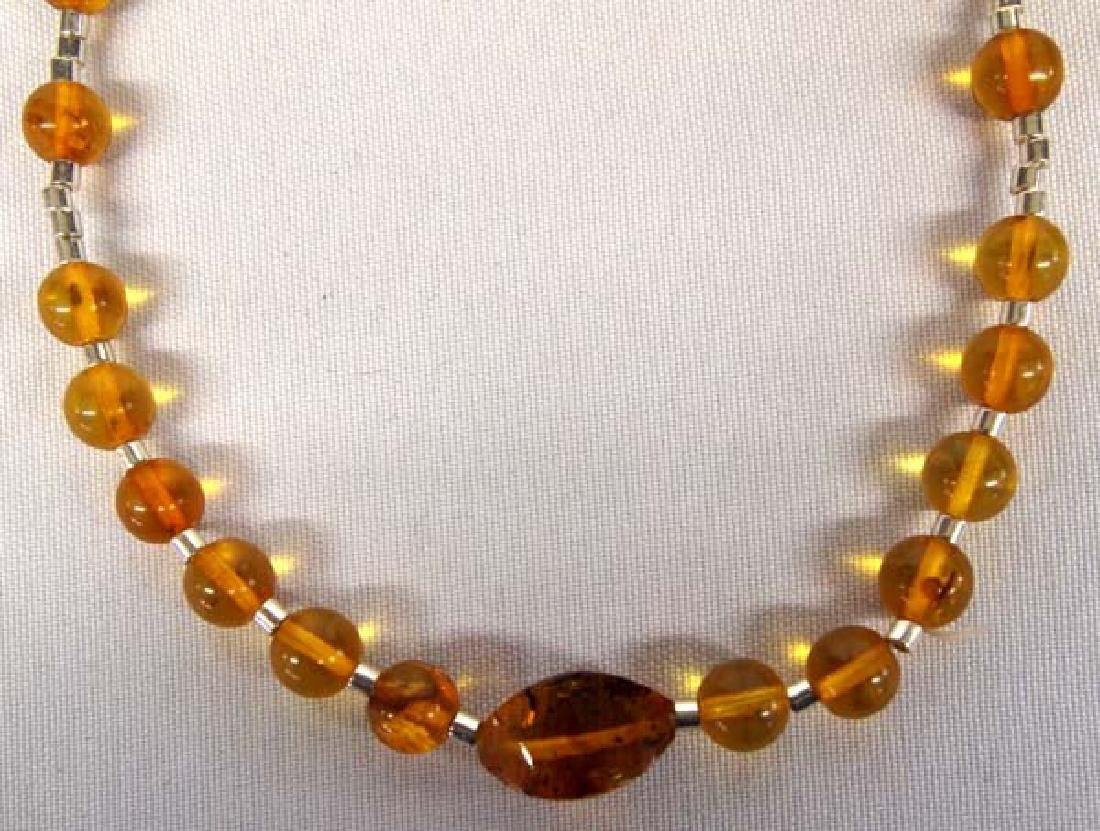 Amber Necklace, 16''L, $6.50