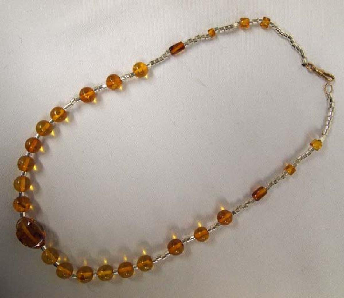 Amber Necklace, 16''L, $6.50 - 2