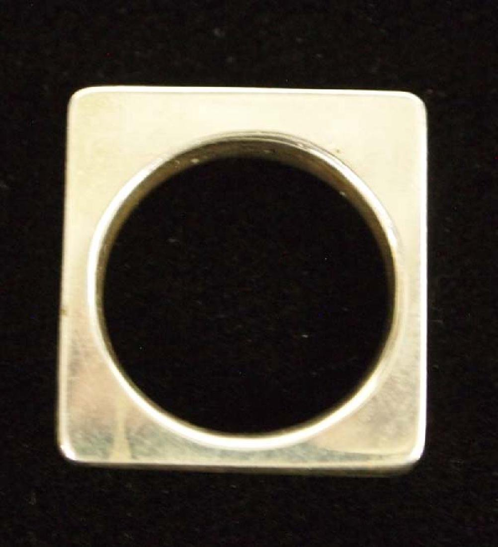Square Sterling Silver Ring, Size 8.5, $6.50 S&H