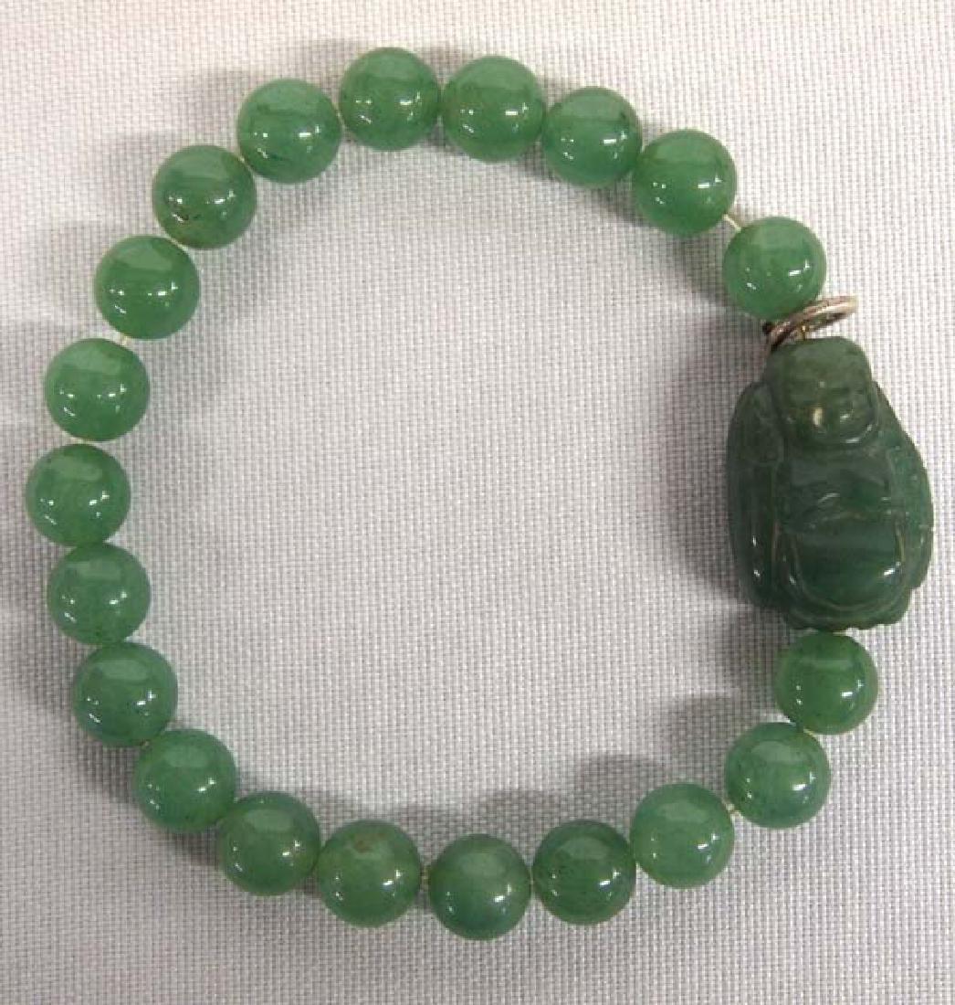 Jadeite Buddha Bead Bracelet, 6''L, $6.50 S&H