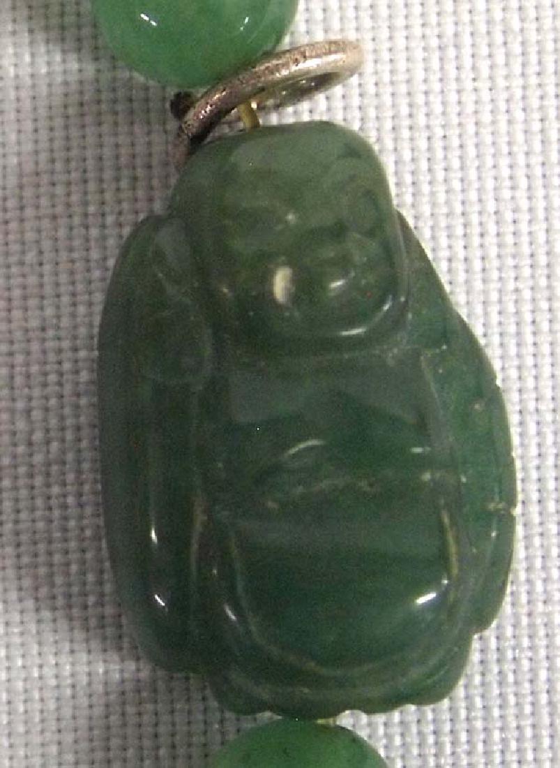 Jadeite Buddha Bead Bracelet, 6''L, $6.50 S&H - 2