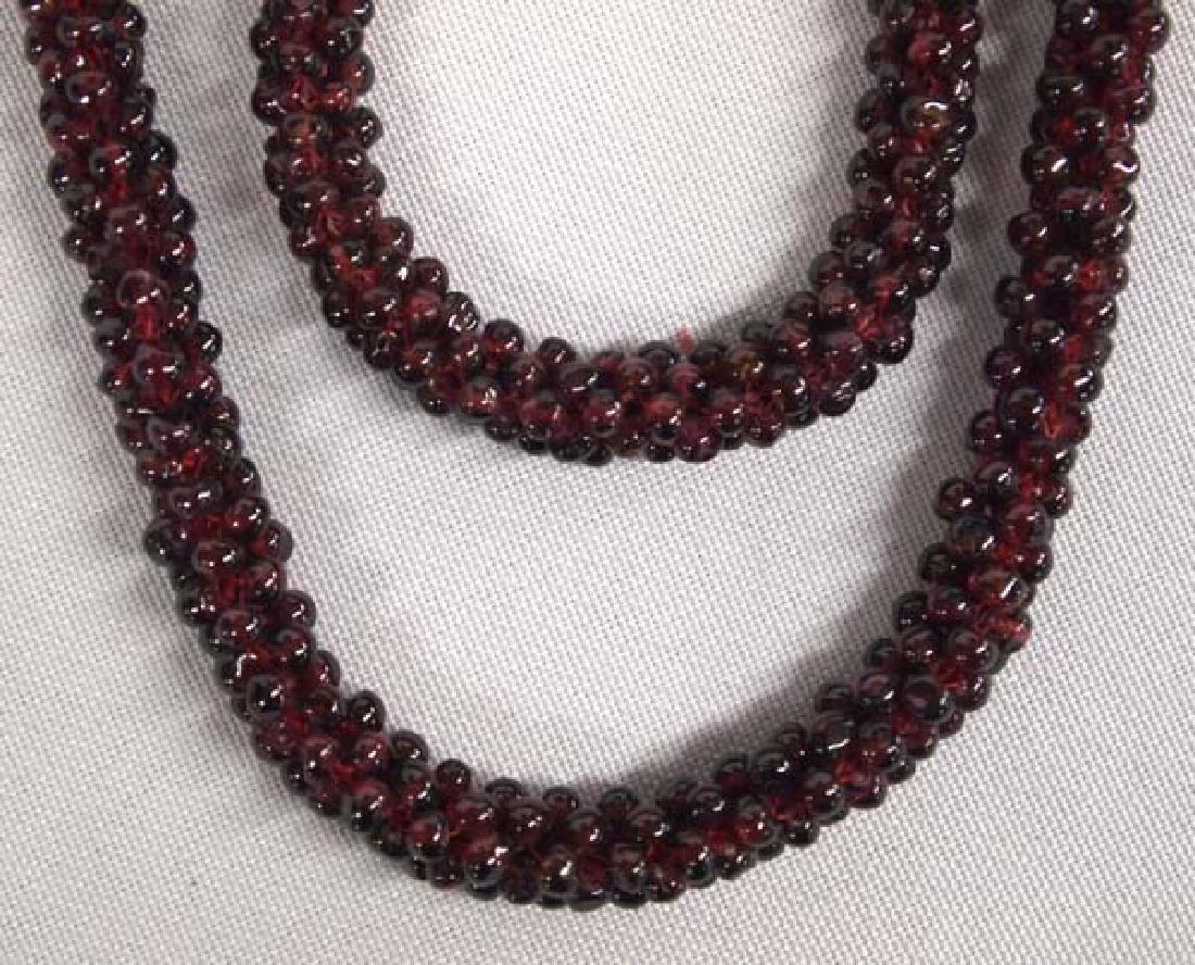 2 Garnet Necklaces, 32''L, $6.50 S&H