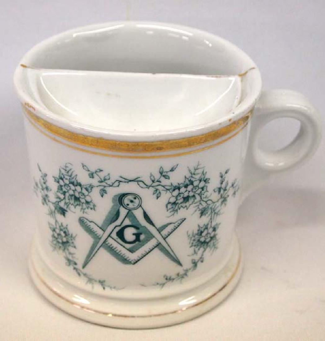 Masonic Moustache Cup, 4''H, $14 S&H