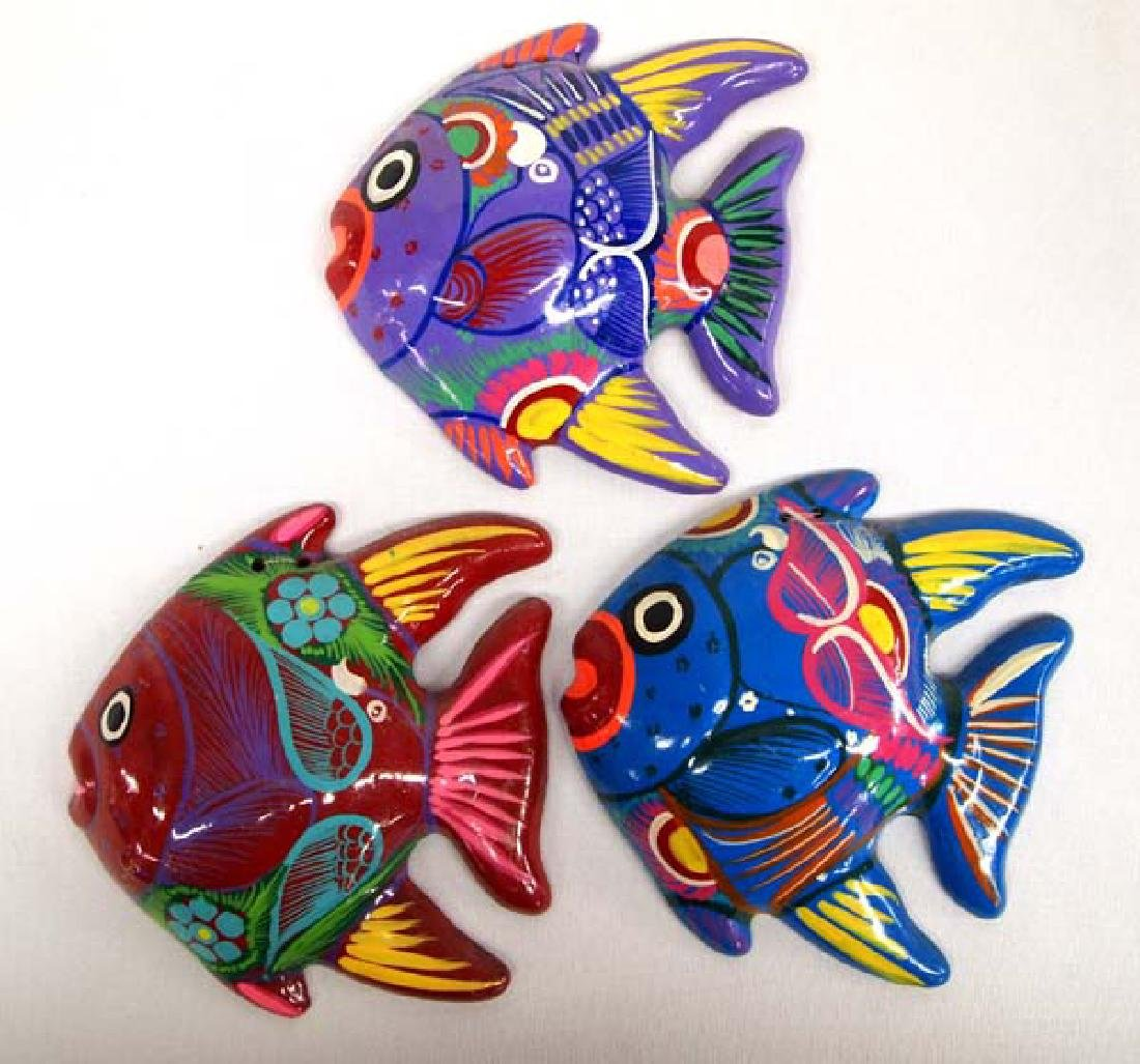 3 Mexican Pottery Fish, 5''L, $6.50 S&H