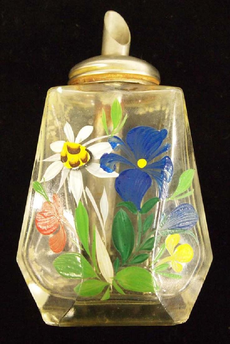 Vintage Painted Oil Bottle, 6'', $6.50 S&H
